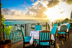 Restaurant View (246Traveller) Tags: ocean sunset food holiday restaurant view wine barbados service dining cocktails tropics westindies stlawrencegap comevisit nikond3300 castawaysbarbados