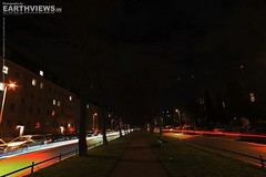 Braunschweig city night 484-486 (Stefan Beckhusen) Tags: road street city longexposure architecture night buildings germany town timelapse europe nightlights nightshot traffic wideangle brunswick vehicles braunschweig lowersaxony lightstream brunswiek jasperallee