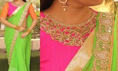 Designer Green And Pink Saree (elegantfashionwear) Tags: pink green designer saree