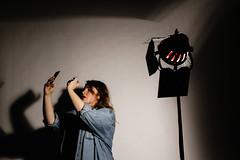 (morwen_5) Tags: light shadow lamp girl studio