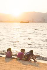 Friends II (myles.tan) Tags: travel family sunset beach seasia wanderlust malaysia penang
