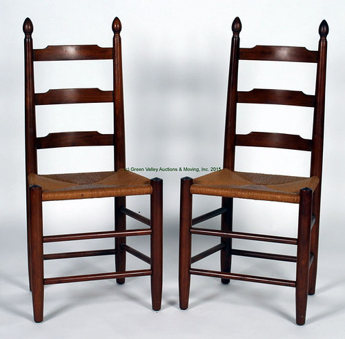 8 Clore Ladder Back Chairs w/ Rush Seats $907.50 - 9/11/15