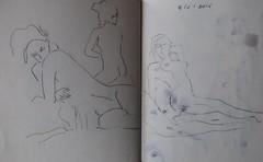 Crculo de Bellas Artes (GimBo AkimBo) Tags: madrid texture painting nude print sketch drawing cartoon surreal figuredrawing acuarela pintura cba circulodebellasartes femalefigure crculodebellasartes apunte crculodebellasartesmadrid