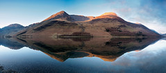 Buttermere panorama 2 (alf.branch) Tags: lake reflection water clouds landscape lakes lakedistrict olympus cumbria buttermere refelections westcumbria cumbrialakedistrict