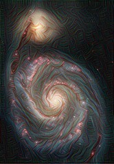 Whirlpool of Dreams (sjrankin) Tags: edited nasa m51 processed filtered whirlpoolgalaxy 4march2016