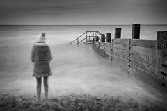 Ghosts. (Andy Bracey -) Tags: longexposure sea seascape beach landscape nikon norfolk pebble northsea ghosts groyne cromer breakwater bracey leefilters d700 andybracey littlestopper