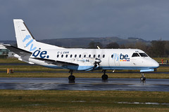 G-LGNM.GLA270316 (MarkP51) Tags: plane airplane scotland airport nikon image glasgow aircraft aviation saab airliner gla loganair flybe 340b egpf glgnm d7200 markp51
