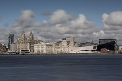 L.F.C. (Little Fluffy Clouds) (Spokenwheelphotography) Tags: longexposure water clouds liverpool canon river cityscape cunard liverbirds merseyside liverbuilding canon70200 rivermersey liverpoolmuseum portofliverpoolbuilding cunardbuilding canonphotography mannisland liverpoolwaterfront bigstopper canon70200f28lll canon5diii canon5d3 canonofficial