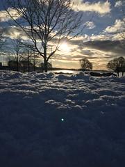 Surprise snowy sunrise (jtunkelo) Tags: winter sunlight snow sunrise dawn helsinki snowy lumi talvi wintery 2016