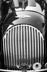 Morgan (vapi photographie) Tags: show bw white black detail car convertible front nb grill exposition exotic topless british morgan radiator supercar