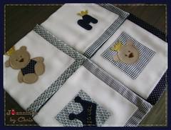 panos de boca (Joanninha by Chris) Tags: baby azul handmade artesanato beb bordado ursinho enxovalbebe enxovalmenino aplicaodetecidos ursorei