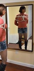 Reflecting (Amanda Bound) Tags: asian boots bondage bdsm turtleneck ropes abducted asiancrossdresser