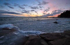Melting Away #02 (tinamar789) Tags: sunset sea sky snow seascape ice landscape helsinki horizon seashore lauttasaari