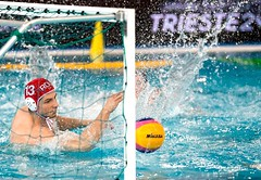 FINA Men's Water polo Olympic Games Qualifications Tournament 2016 - Trieste (ITA) (fina1908) Tags: blue italy white fina ita trieste waterpolo olympicgames qualification 2016 pallanuoto tournament2016 13mariusticgkredcaprou