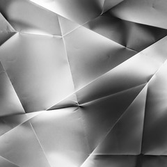 Paper Abstracts - Part 4 (Ian Johnston LRPS) Tags: red lines paper square 50mm nikon shadows a3 abstracts folds tabletop 1x1 crumpled d800 ledlights 2016