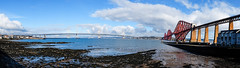 Bridges panorama, South Queensferry (wwshack) Tags: scotland fife lothians forthbridge riverforth