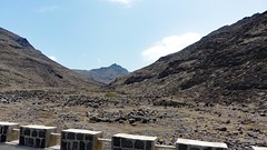 On the road to the Monte Verde summit (Train Fan) Tags: ocean sea mountain beach rock landscape coast outdoor panoramic barren atlanticocean mountaintop capeverde sovicente seaandsky mountainviews sanvincente panoramicviews capeverdeislands atlanticisland sanvincenteisland capeverdeislabds