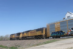 53249 (richiekennedy56) Tags: usa unitedstates kansas unionpacific perry sd70m es44ac up4201 railphotos jeffersoncountyks up7370
