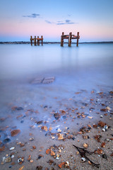 Back at Lepe (catkin314) Tags: longexposure blue sea sky coast pebbles hampshire dolphins solent skeletons remains lepe newforestnationalpark lepebeach lepecountrypark