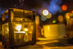 Daniel Briand (caiofonseca2203) Tags: blue light shadow art coffee caf yellow night composition canon interesting perfect colorful candle dof bokeh outdoor awesome 24mm beyondbokeh