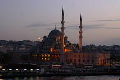 The Yeni mosque_01 (Jan Thomas Landgren) Tags: city travel vacation building buildings turkey evening town asia europe outdoor islam capital religion istanbul mosque bluemosque resor turkiet theyenimosque