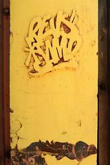 revs*samp (Luna Park) Tags: nyc sculpture ny newyork art yellow metal revs tags lunapark samp revsamp