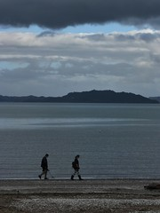 Beachcombers (Fraser P) Tags: sea newzealand beach weather cafe harbour wellington petone lowerhutt