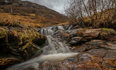 Glen Ogle,Scotland (cheese and pickle) Tags: uk trees winter orange white color colour tree green grass rain weather clouds rural river season walking landscape scotland waterfall leaf spring scenery rocks seasons unitedkingdom britain outdoor bleak rugged scottishhighlands