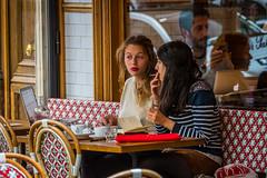 Boulevard Saint-Germain Caf (Serendigity) Tags: street city paris france coffee caf women smoking