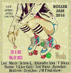 Roller Jam 2016 @ Woods (loje.co) Tags: music club fun disco woods event roller 70s jam skates