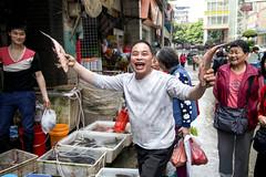 Fish Monger (runam1le) Tags: guangzhou fishmonger publicmarket