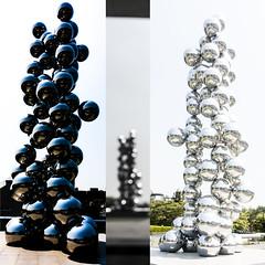 Tall Tree and The Eye (Kai-Ming :-))) Tags: light shadow sculpture reflection art collage ball stainlesssteel sony korea sphere seoul reflective leeum outfocus kaiming reflectivespheres talltreeandtheeye dscrx100m4 kmwhk leeusamsungmuseumofart