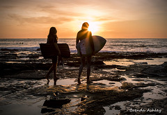 surfing buddies (liipgloss) Tags: sky sun seascape reflection silhouette canon newcastle landscape rocks surfing nsw april surfers sunburst 2016 newcastlebaths oceanbaths 7dii brendaashley