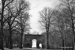 The Triumphal arch, Parlington woods, Aberford, Leeds. (MAMF photography.) Tags: blackandwhite bw art beauty blackwhite britain triumphalarch biancoenero panaramic aberford parlington