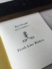 Ker-bloom! 119 title page (artnoose) Tags: zine metal marathon line finish type ribbon letterpress issue 119 kerbloom