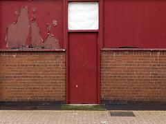 (Crausby) Tags: door uk red england urban brick abandoned facade digital mediumformat back decay rear hasselblad cumbria mittelformat newtopography carlsile