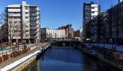 Ruoholahti Canal (ri Sa) Tags: bridge ice water finland canal helsinki fisher ruoholahti jtksaari