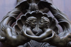 Roman Lovers (gooey_lewy) Tags: door old city italy rome love metal bronze roman culture lovers historic cherub knocker embrace