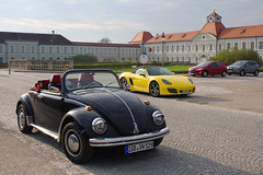 Old and young (pentars) Tags: auto old black classic car yellow vw bug volkswagen pentax beetle young cabrio generation fa nymphenburg porshe 2490 k5ii