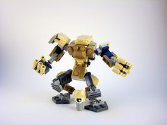 O.G.R.E. Frame - 7P Scale Pilot (Jay Biquadrate) Tags: lego mecha mech moc microscale mfz mf0 mobileframezero
