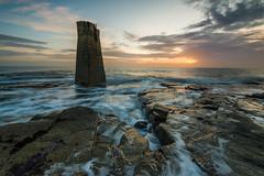 The Suns Range (russellcram) Tags: lighthouse water st clouds sunrise nikon rocks long exposure marys d750 range finder 1635mm