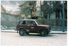 (tayn3) Tags: travel winter snow mountains film analog 35mm georgia classiccar asia 4x4 olympus ishootfilm soviet caucasus silkroad analogue oldcar russian centralasia olympusom2 lada exsoviet olympusom2n svaneti mestia filmlife traveldeeper