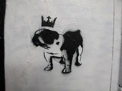 stencil dog, Leake Street (duncan) Tags: dog stencil leakestreet