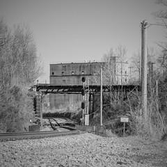 B&O Adamston / Clarksburg, WV (photography_isn't_terrorism) Tags: railroad trestle bw panorama square panoramic silo signals wv westvirginia silos bo siding hdr cpl anchorhocking clarksburgwv highpole anchorhockingglass