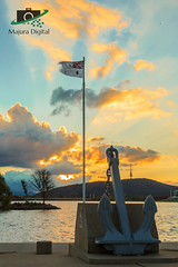 Anchored In Time (DrSchabbs) Tags: sunset memorial canberra radiant lastlight hmascanberra