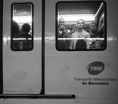 Metro (Christof Timmermann) Tags: barcelona people blackwhite view metro olympuspen tmb streetfotografie soulofbarcelona