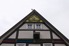 (allanimal) Tags: architecture symbols illuminati fachwerk architecturalstyle stockcategories afszoomnikkor2470mmf28ged