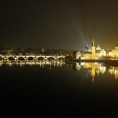 Karlv most, Prague (carolemon 2010) Tags: bridge night river prague charles praha vltava karlv