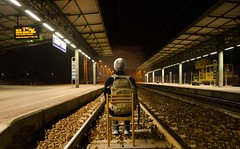 Face your fears (jjallison33) Tags: travel light station danger train lights for power fear tracks wait resolution strength luci moment stazione luce perilous aspettando playingchicken 2016 resolve pericoloso hitmeifyoucan