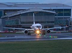 Aer Lingus (RetroJet)                        Airbus A320                                          EI-DVM (Flame1958) Tags: vacation holiday flying dusk aircraft aeroplane airbus flights dub aerlingus a320 320 dublinairport strobes 2016 airbusa320 runwaylights 0116 retrojet eidw 080116 taxiwaylights aerlingusa320 duskdeparture duskflight eidvm aerlingusretro aerlingusretrojet